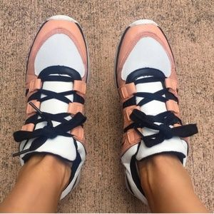 A New Day Color-blocked Blush Lace Up Sneakers